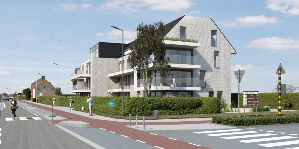 Oostkant appartement Middelkerke